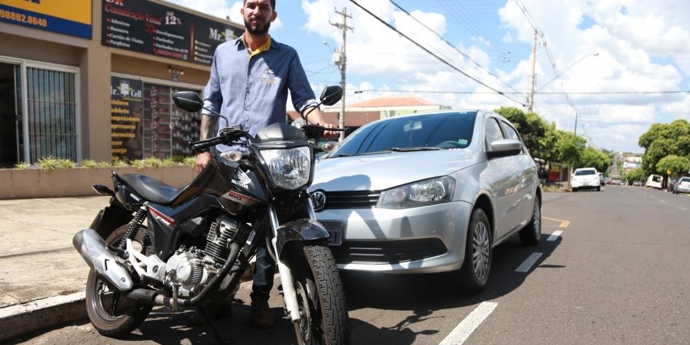 Stéphano Elias da Silva ajudou a aumentar as estatísticas: além da moto que tinha, comprou carro em 2018 (Johnny Torres 9/1/2019)