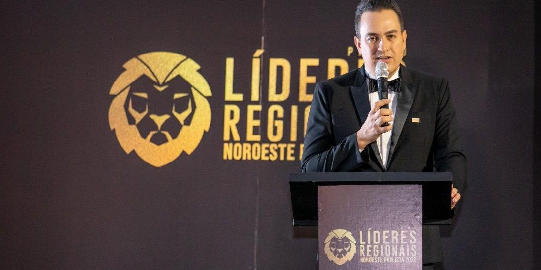 Presidente do Lide Noroeste Paulista, Marcos Scaldelai, no Prêmio de 2020 (Jean Morelli Fotografia/Divulgação)