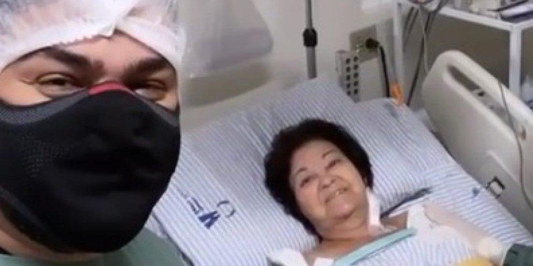 Cantor, que faz dupla com Zé Neto, divulgou vídeos ao lado da mãe no hospital (Reprodução Instagram)