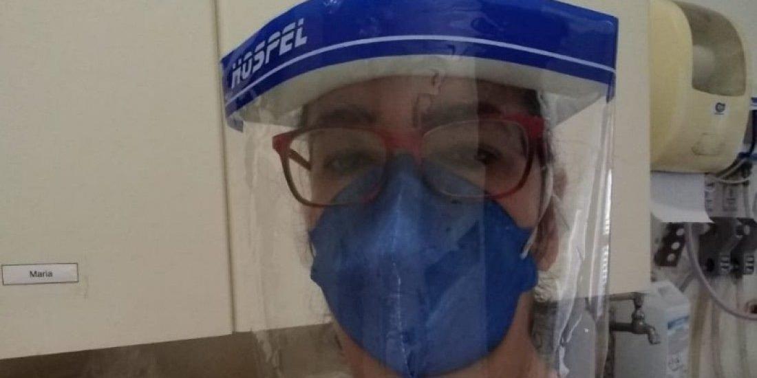 Vera Lúcia Teixeira de Souza, 52 anos, trabalha no setor de limpeza da ala Covid-19 do HB em Rio Preto (Arquivo pessoal)