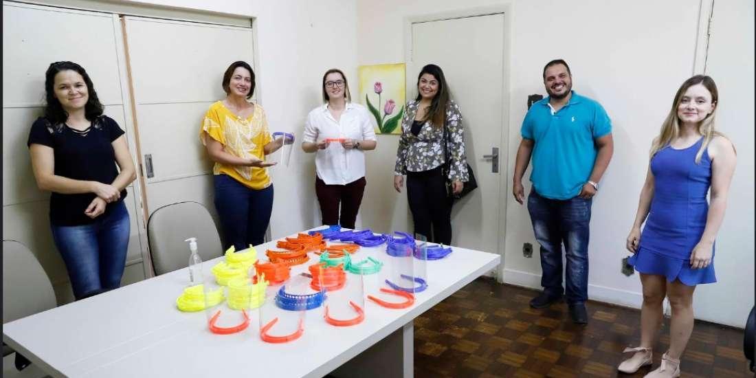 Equipe da 3D Art Connect doou 300 máscaras para Prefeitura de Rio Preto