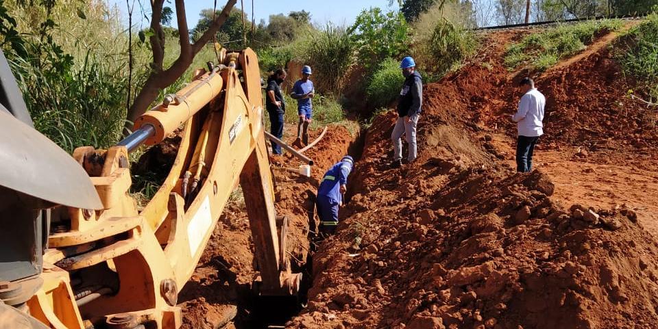 Semae inicia construção de extensão de rede para fornecer água para a favela da Vila Itália