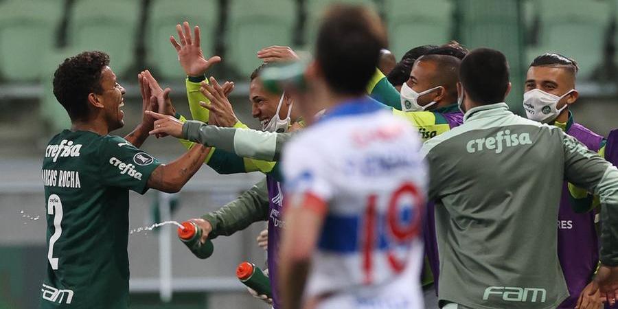 Marcos Rocha comemora gol da vitória do Verdão contra a Universidad Católica (Cesar Greco/ Agência Palmeiras)