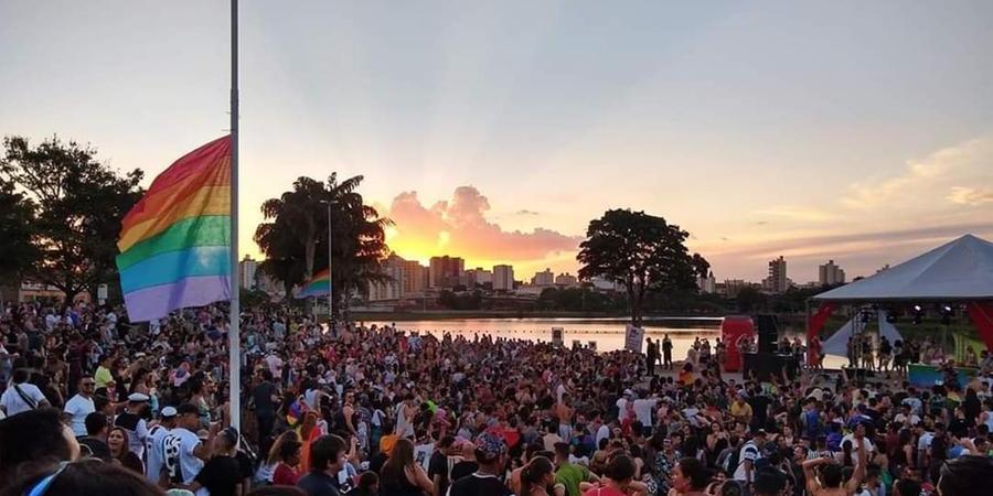 O auditório da Represa na edição 2019 da Parada da Diversidade, que ganhou formato virtual pelo segundo ano (Divulgação)