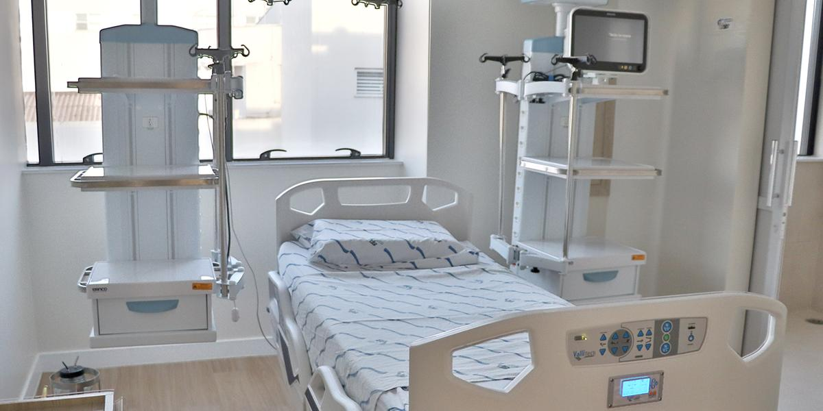 Leito no Hospital de Base de Rio Preto (Divulgação//Hospital de Base)