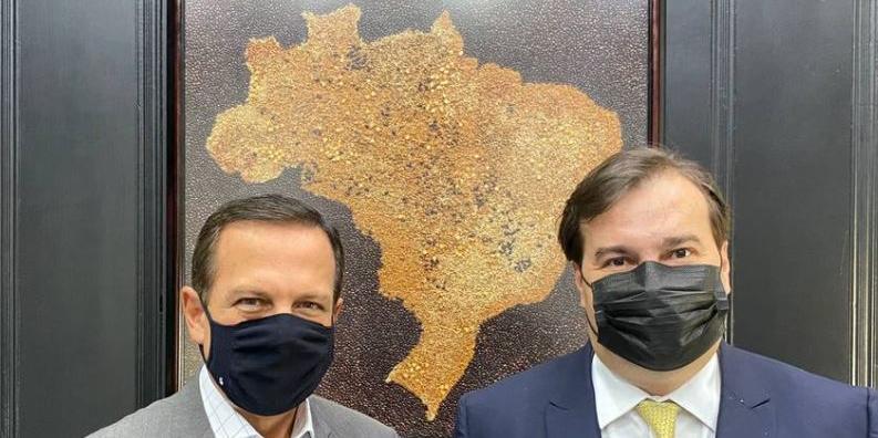 Governador João Doria abriga em seu governo o deputado federal Rodrigo Maia (Divulgação)