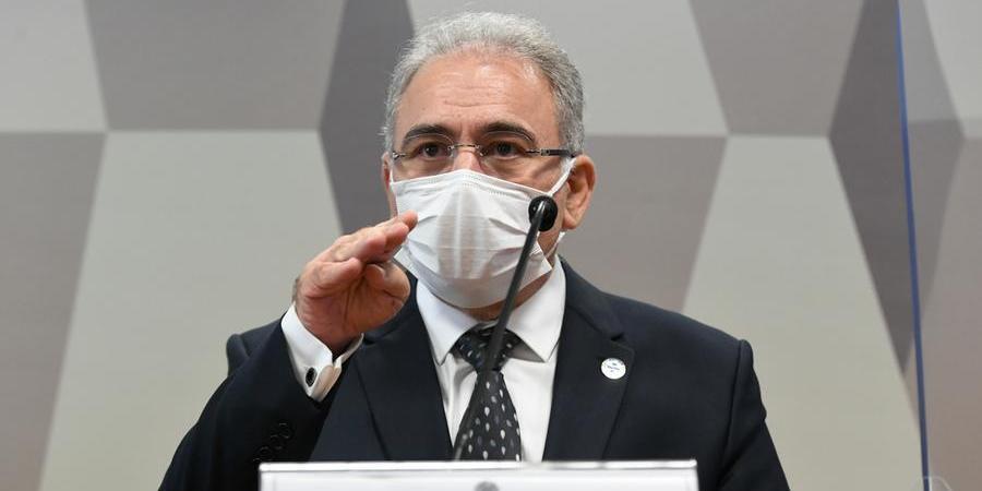 Ministro da Saúde, Marcelo Queiroga, em depoimento na CPI da Covid, no Senado (Divulgação/Agência Senado)