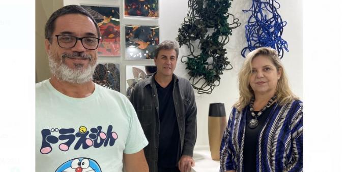 Beto Cocenza, Beto Carrazzone e Telma Parizi (Arquivo Pessoal)