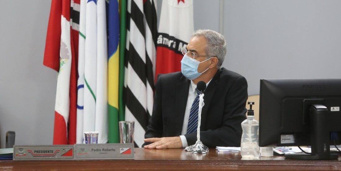 Presidente da Câmara de Rio Preto, Pedro Roberto (Patriota) (Guilherme Baffi 9/2/2021)