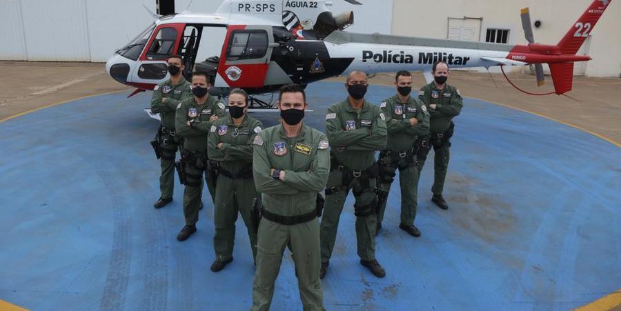 Integrantes da equipe do Águia da PM em Rio Preto (Johnny Torres 14/9/2021)