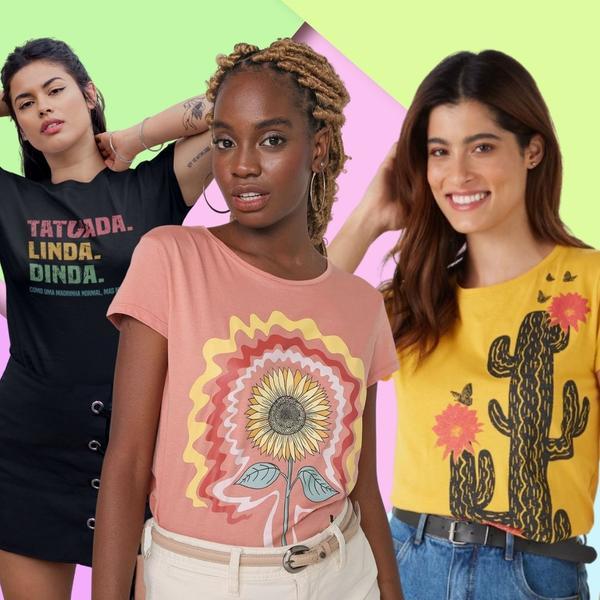 T-shirts do momento são indispensáveis para a mulher contemporânea