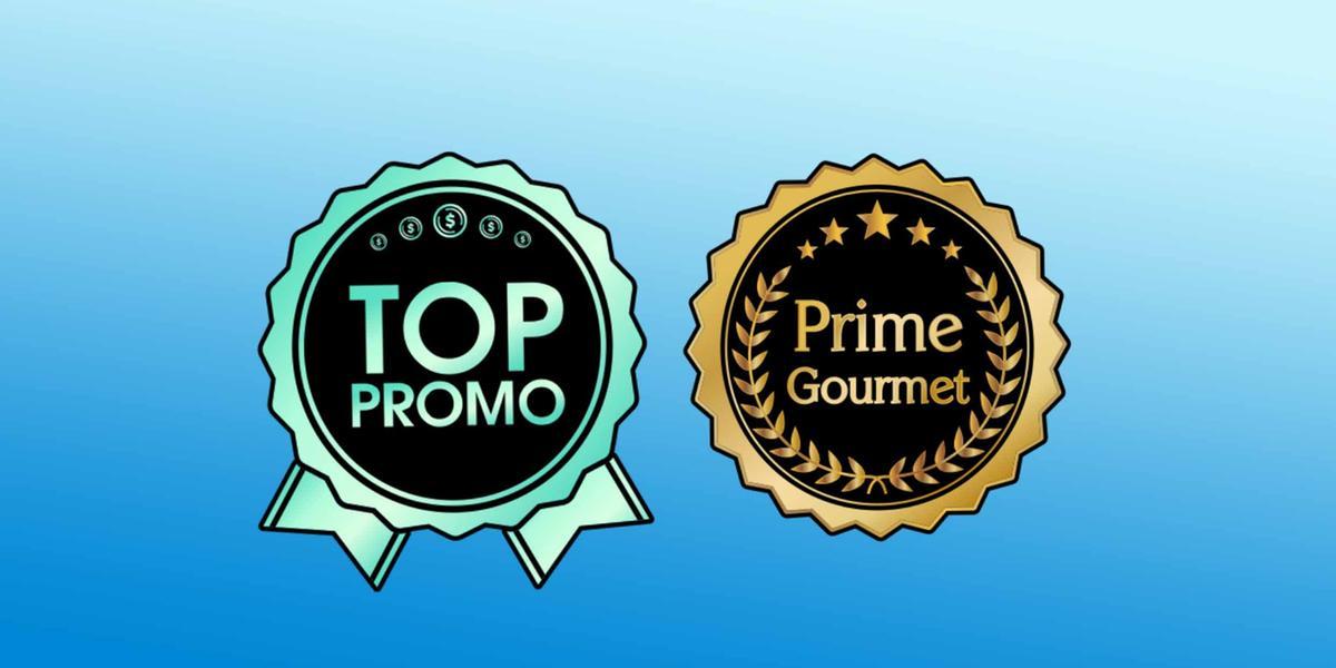 Selos 'Top Promo' e 'Prime Gourmet'
