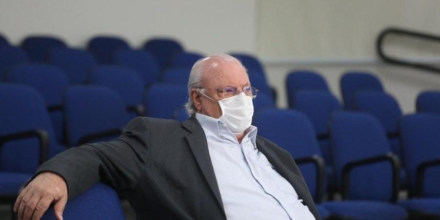 Secretário de Rio Preto, Aldenis Borim, nas galerias da Câmara no ano passado; oposição conta com apoio da base para provocar desconforto no governo (Guilherme Baffi 23/6/2020)