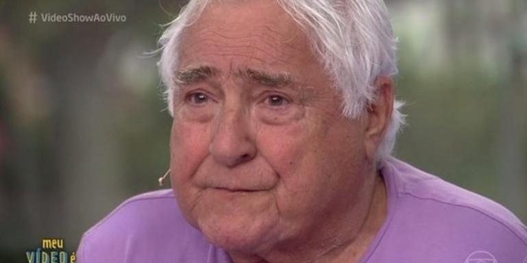 Luis Gustavo durante participação no Video Show, aos 84 anos (Reprodução/Rede Globo)
