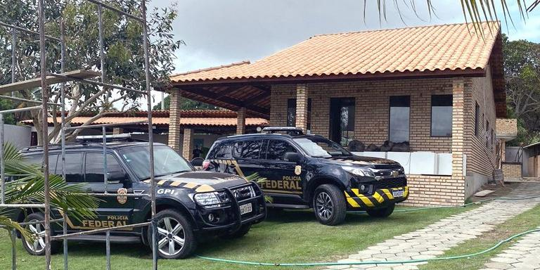 Casa do suspeito em Natal, onde foram apreendidos os bens (Divulgação/Polícia Federal)