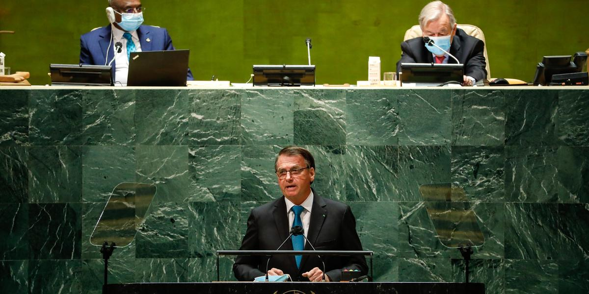 Jair Bolsonaro na Abertura do Debate Geral da 76ª Sessão da Assembleia Geral das Nações Unidas (Alan Santos/PR)