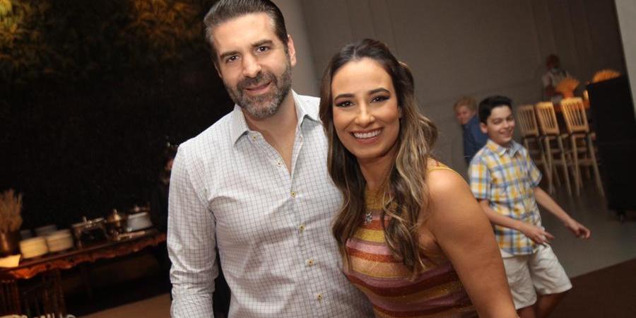 Reynaldo e Mariana Zanon em festa no Buffet Félix Petrolli (Arnaldo Mussi)