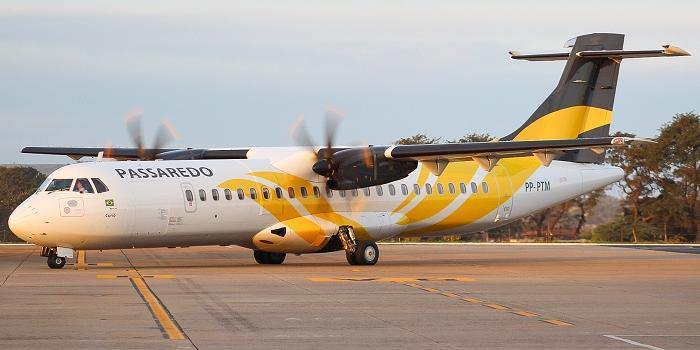 Aeronave ATR-72, tem capacidade para 68 passageiros (Divulgação)