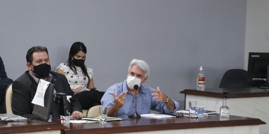Secretário de Trânsito de Rio Preto, Amaury Hernandes, durante audiência pública na Câmara (Johnny Torres 13/10/2021)