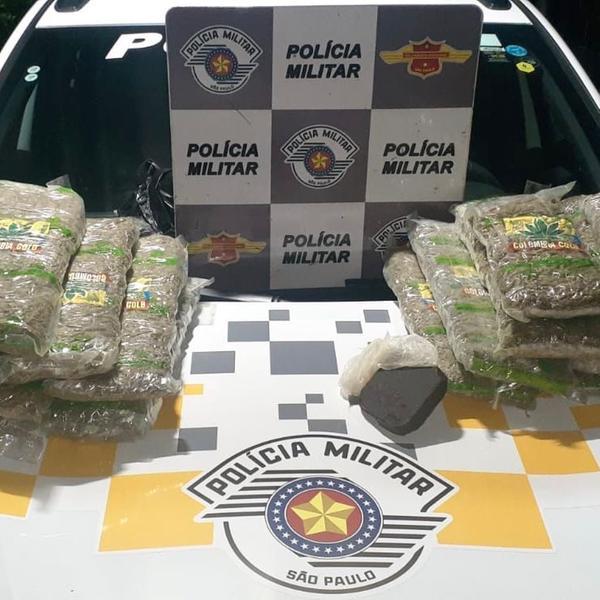 Mulher é presa com 19 pacotes de maconha na Washington Luís, em Rio Preto